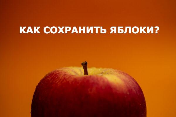 как подольше сохранить яблоки